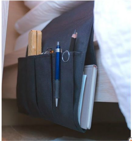 Remote Control Holder For Bedside Storage Try For Diy Small Space Solutions Bed Storage Pockets Ikea Catalog