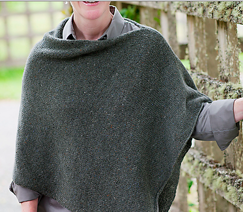 Easy Folded Poncho Knit Along Screen Shot Knit Crochet And