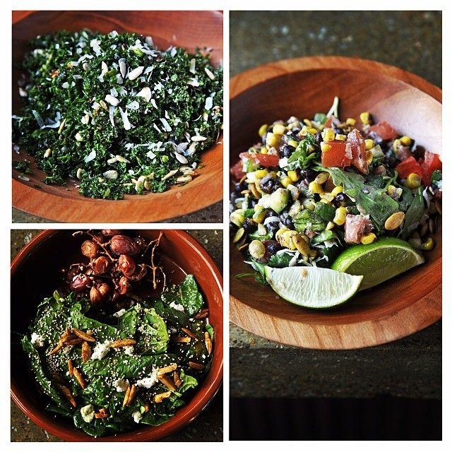 Salad options at Saint Anejo