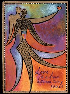 Laurel Burch Card Love Dance of Life LVG13259