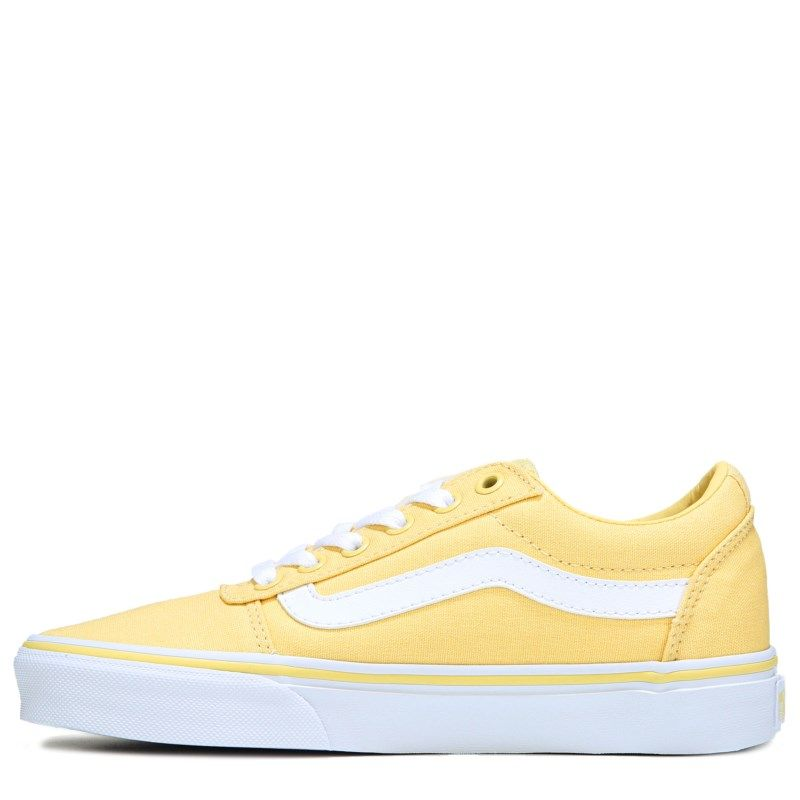 cdb13fd7f3 Vans Women s Ward Low Top Sneakers (Yellow White)