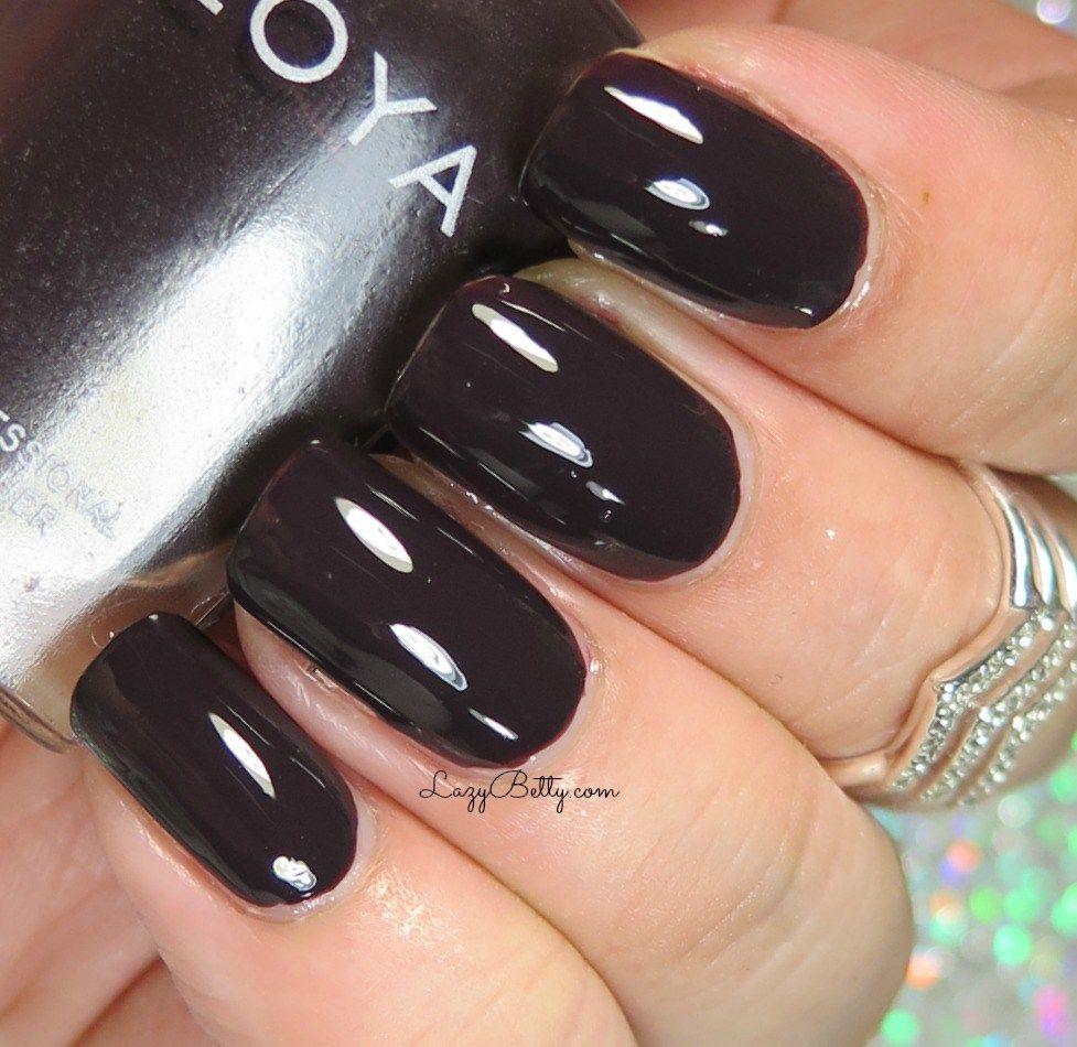Nail polish color idea to try. love this dark color. ideas de unas ...