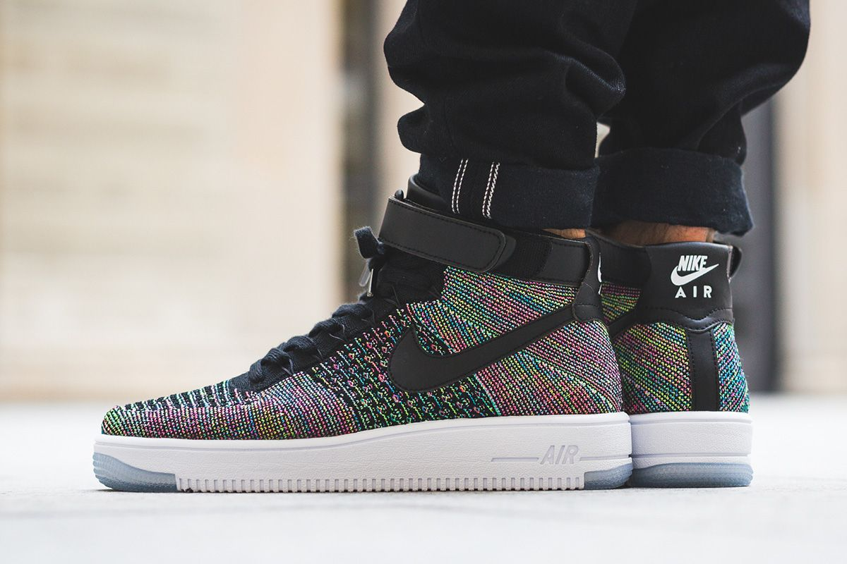 "Incidente, evento carro Que  On Foot: Nike Air Force 1 Ultra Flyknit Mid ""Black/Multicolour†- EU  Kicks: Sneaker Magazine 