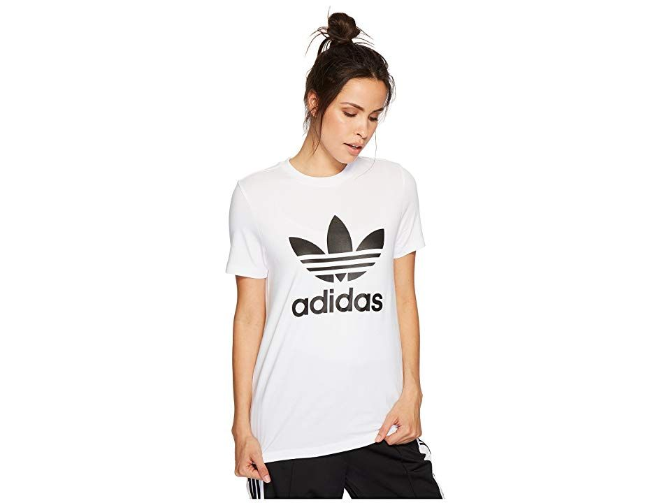 where can i buy high fashion great prices adidas Originals Trefoil Tee Women's T Shirt White/Black 2 ...