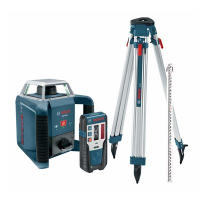 Bosch Grl400 Hck 6 Piece Self Leveling Rotary Laser Kit Bosch Laser Levels Rotary