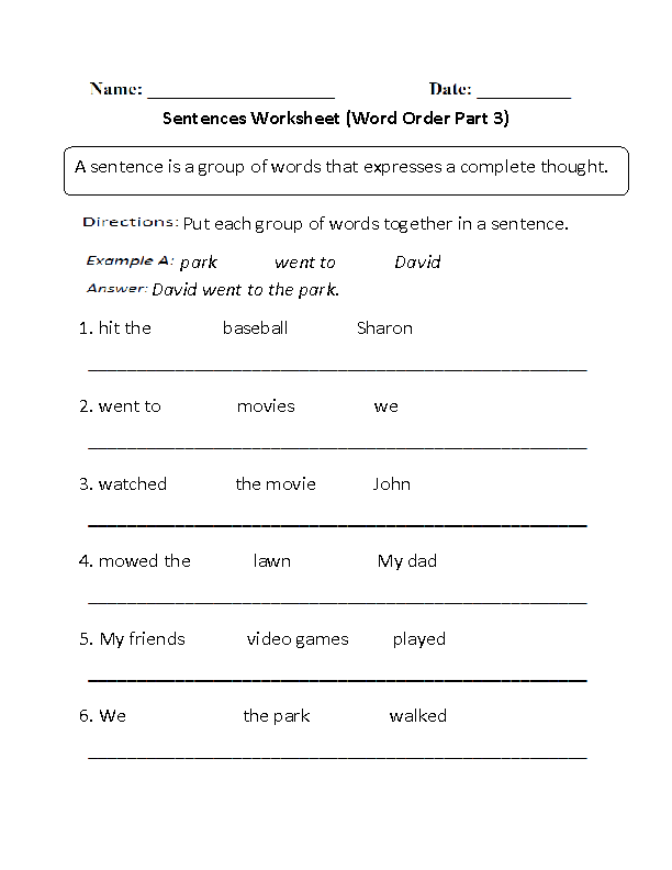word order simple sentences worksheet part 3 beginner great english tools simple sentences. Black Bedroom Furniture Sets. Home Design Ideas