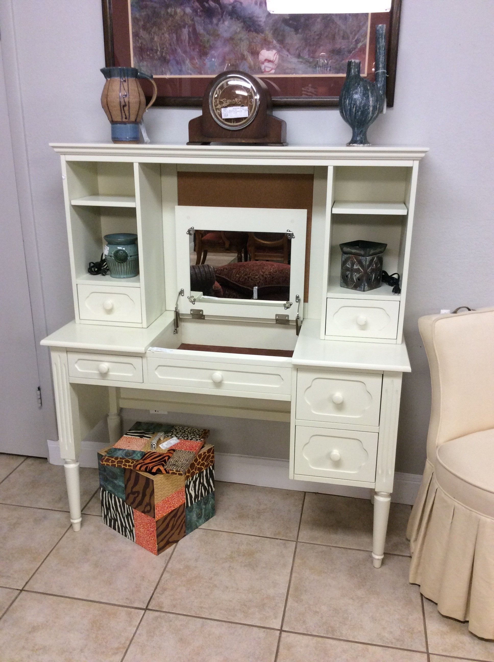 Charming Children's Desk With Hutch Doubles As A Young Girls' Vanity As  Well. Comes
