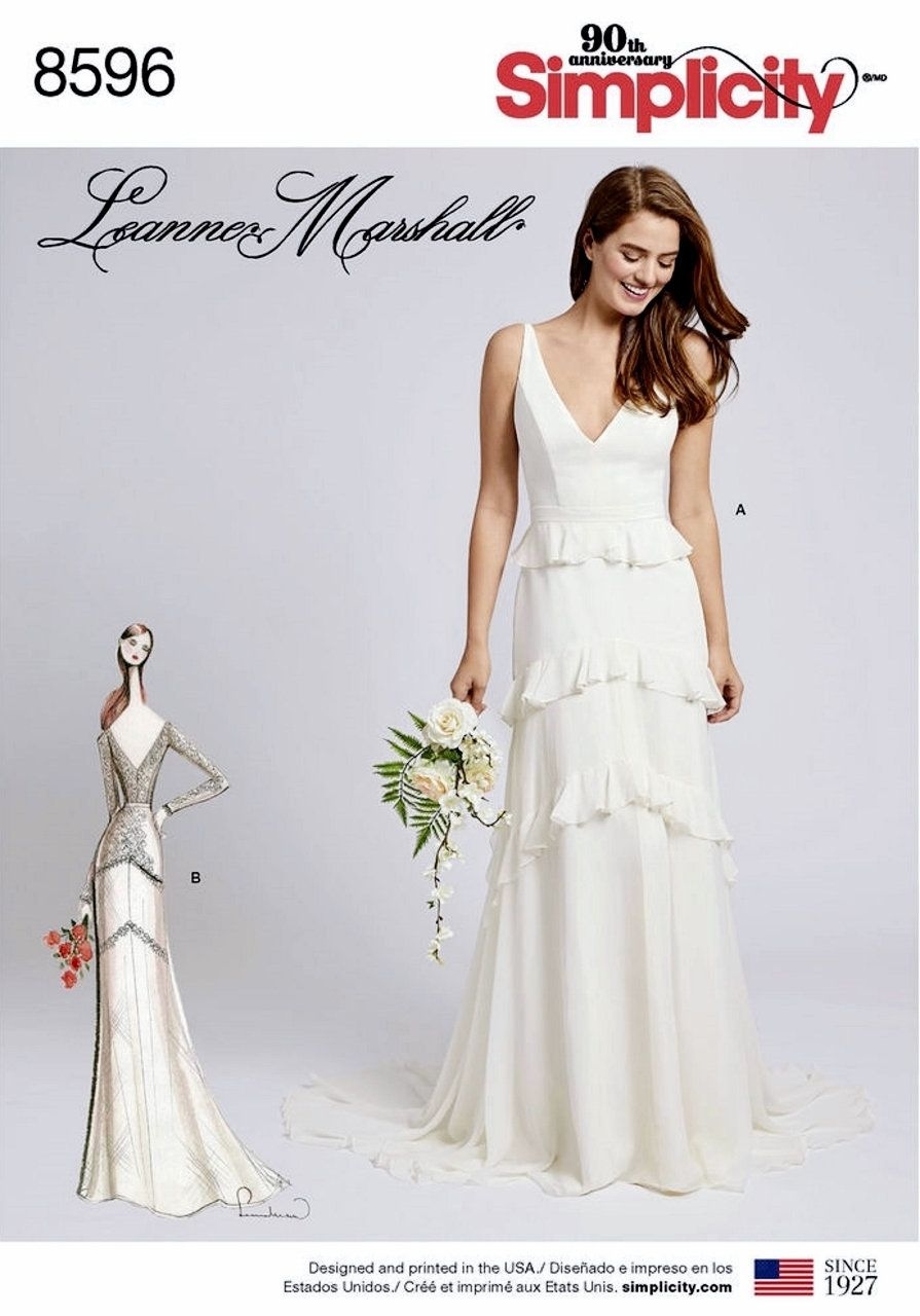 Sewing Pattern Misses Wedding Gown With Train Option Pattern