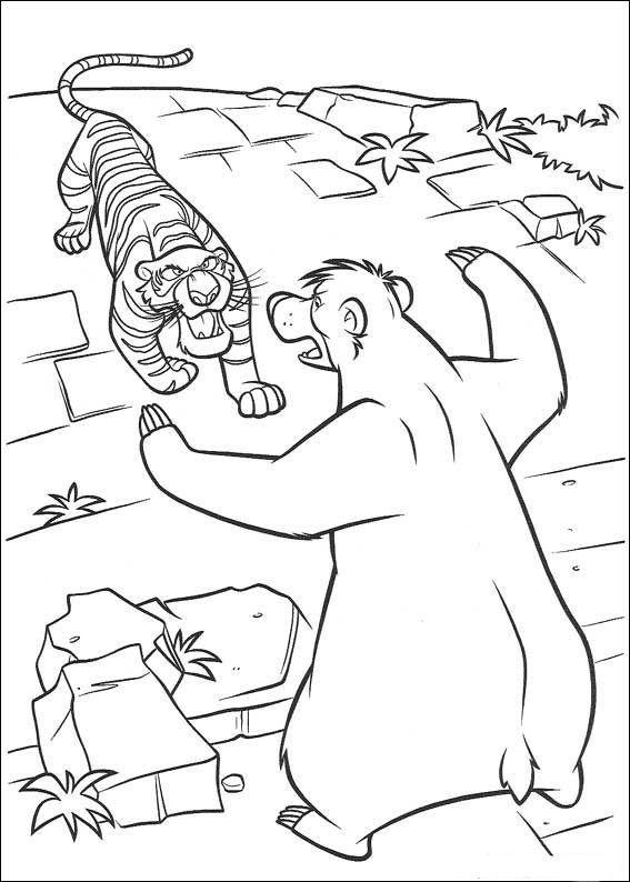 das dschungelbuch 47 ausmalbilder für kinder. malvorlagen