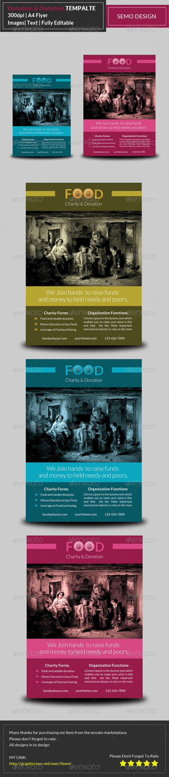 Charity & Donation Flyer Template | Flyers/Leaflet/posters board ...