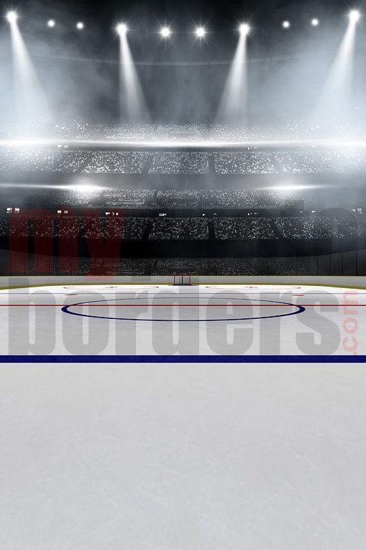 Digital Sports Background Hockey Stadium Digital Background Background Green Screen Backdrop