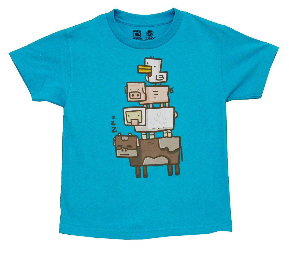 Amazon.com: Minecraft Animal Totem Youth T-shirt: Clothing | parte ...