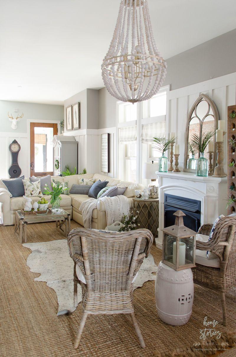 Spring Decorating Ideas Farm House Living Room Home Decor Tips Home Decor