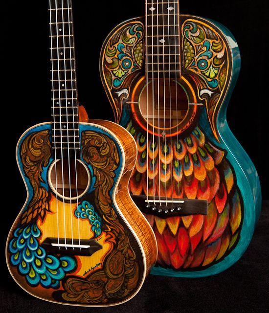 Hand Painted Guitars Ukuleles Lichty Guitars 8 Guitar Painting Guitar Artwork Guitar Art