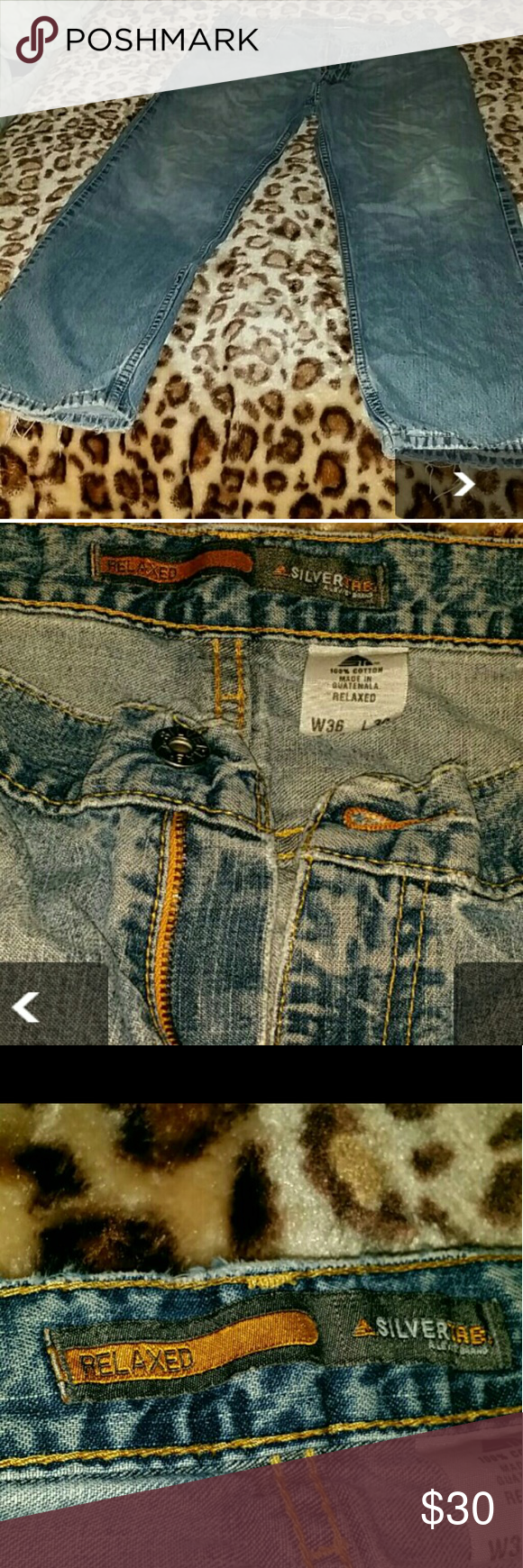 Men Levi Jeans Size 36W L30 very used there a hole in the rear pockets check pictures in good condition. Levi's Jeans Relaxed
