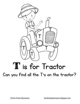 A Coloring Page And Letter Identification Worksheet To Practice The T One Of Several