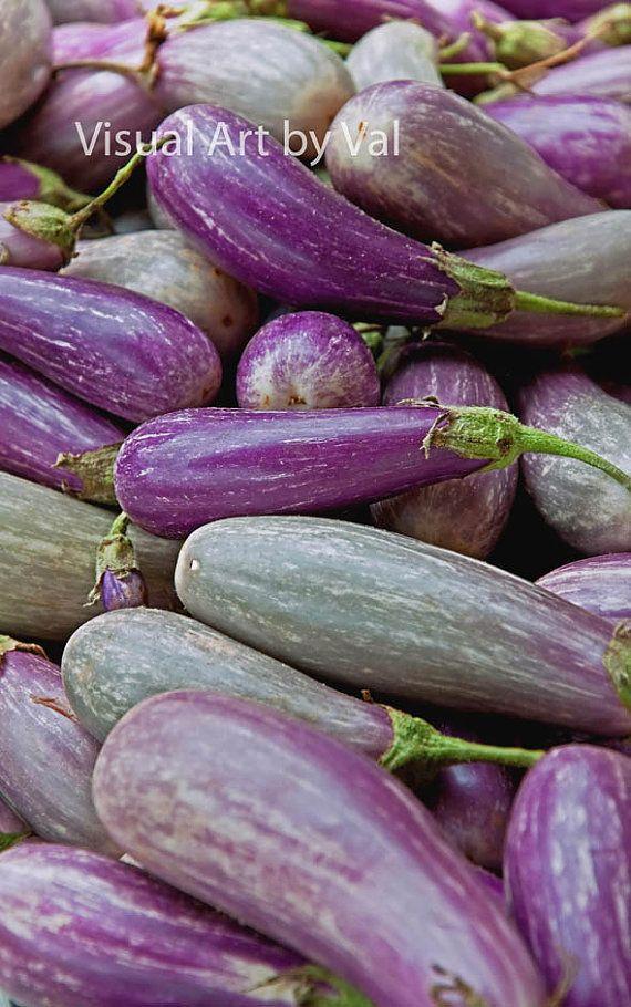 Fine Art Photo Purple Eggplant Vegetables Instant Download   Great Kitchen  Decor