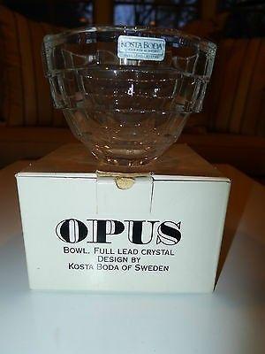Sweden Kosta Boda Opus Bowl By Rolf Sinnemark New Old Stock