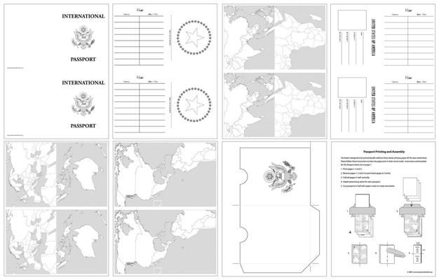 Printable passport design paper | Amazing wonders aviation VBS