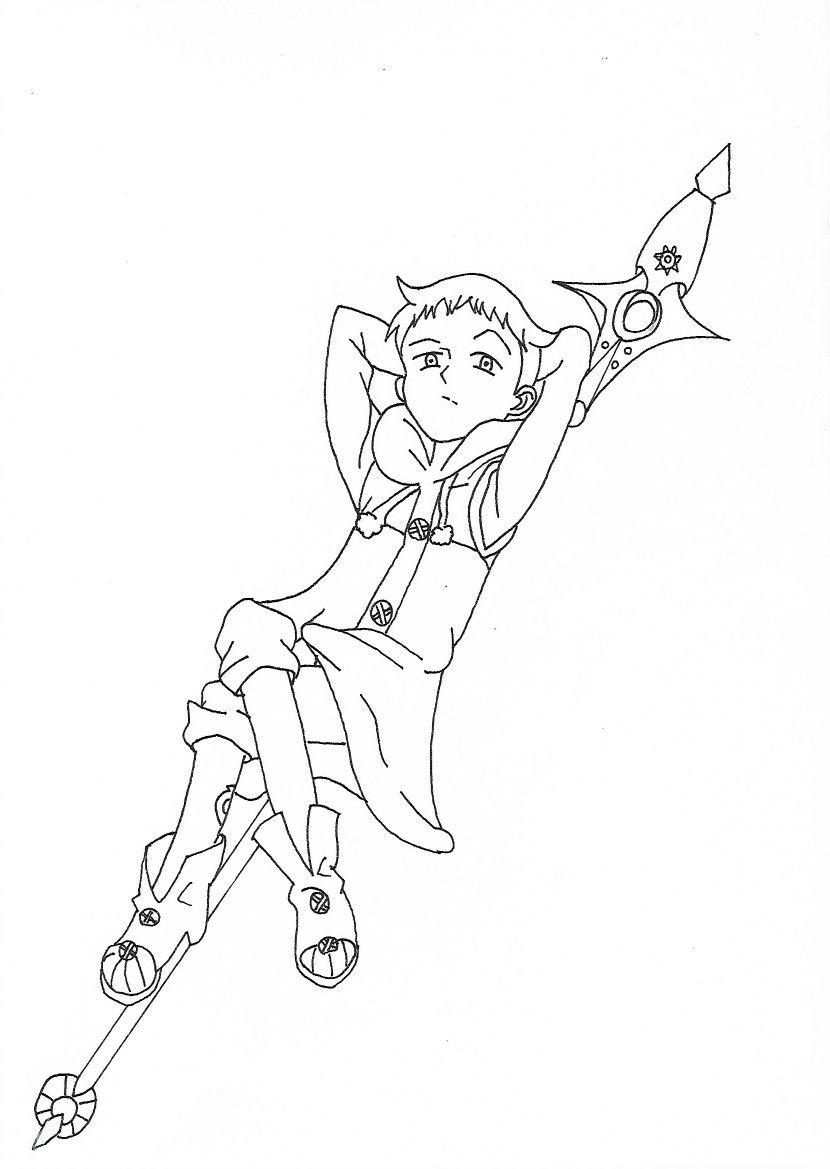 King Pecado Da Preguica Desenhos Pinterest Desenho Do Meliodas