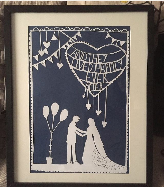 Ever after paper cutting I did for mums wedding #papercutting #robryan #paperart