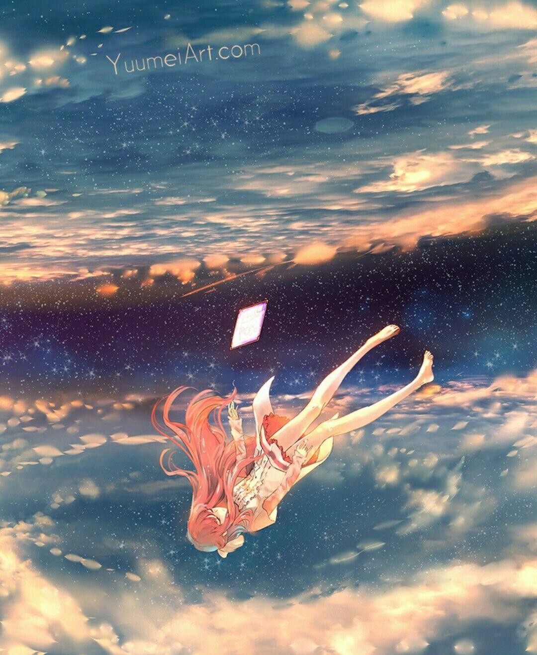 rơi tự do Phong cảnh, Thiên hà, Anime