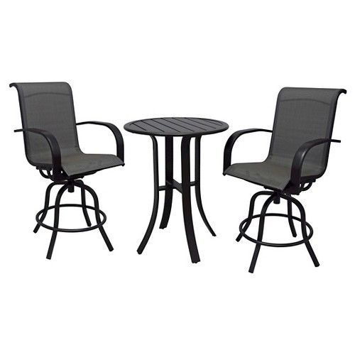Great Camden 3 Piece Balcony Height Patio Bistro Set   Threshold