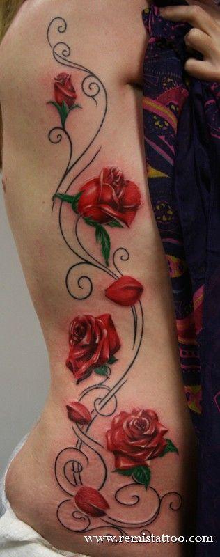 Só Rosas Para Tatuagens Feminina Bloem Heup Tatoeages Tatoeages