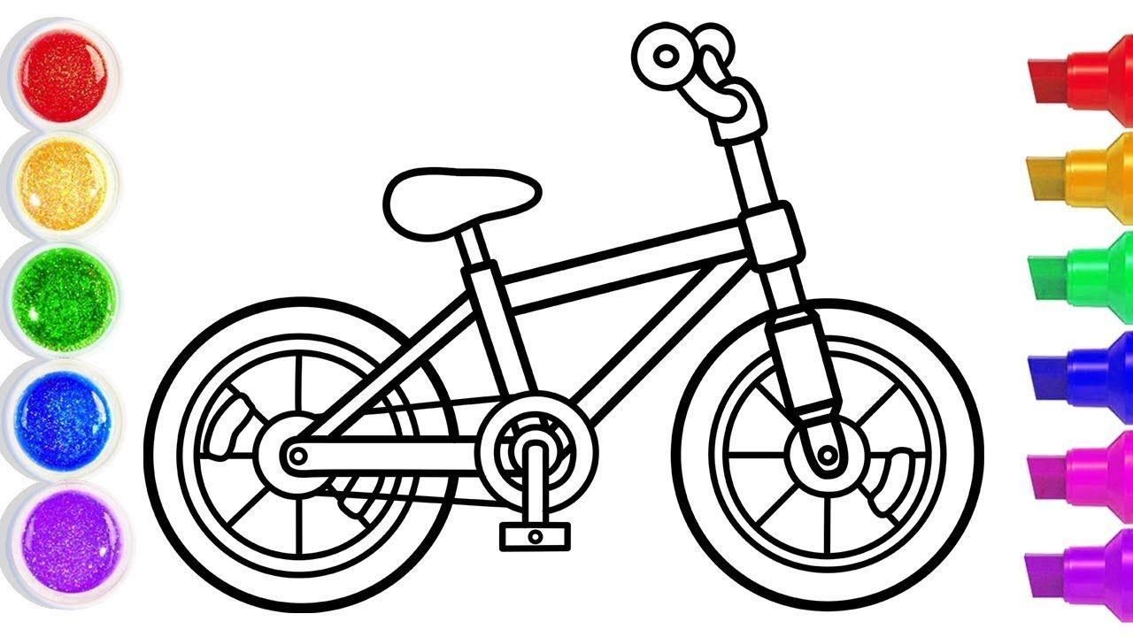 Fahrrad Malen Kinder - Ausmalbilder