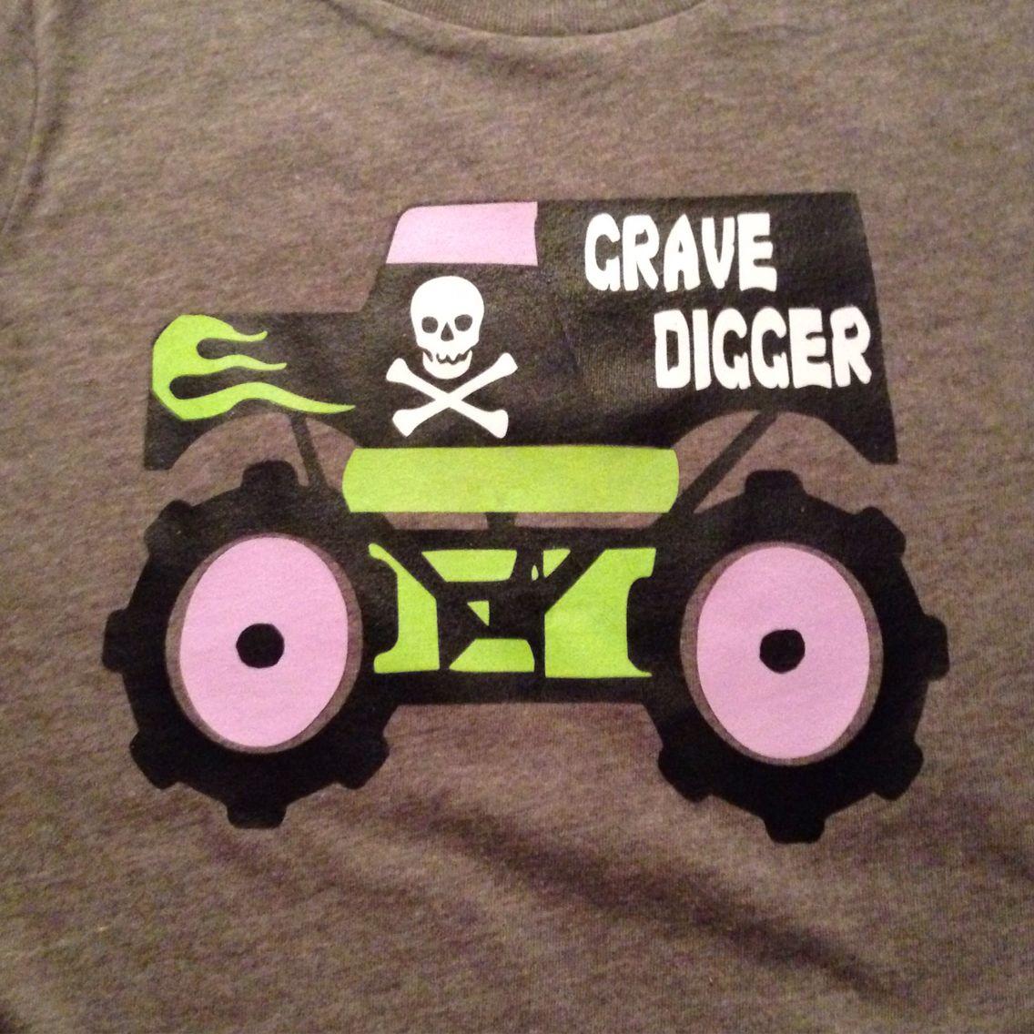 Bubs grave digger shirt Cricut projects