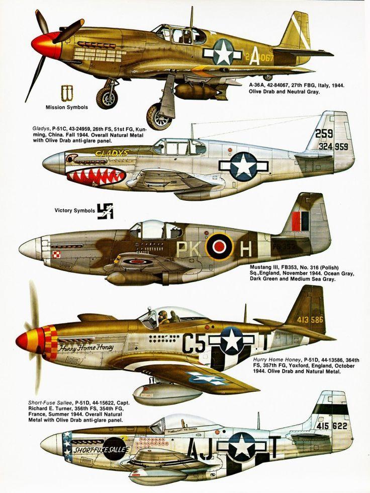 North American P51 Mustang | Aviones | Pinterest | Avión, Vuelos ...