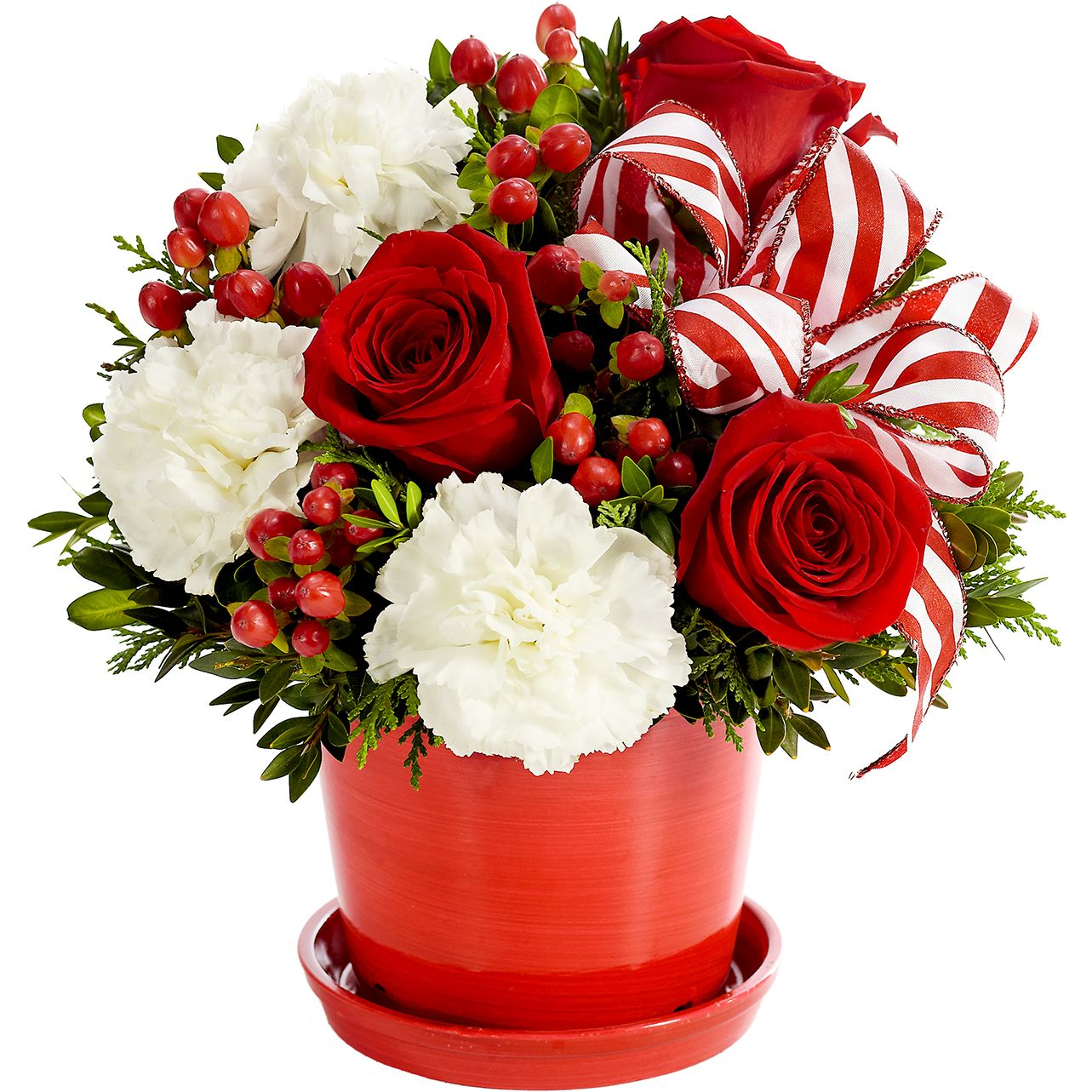 Peppermint Flower Surprise at From You Flowers Christmas