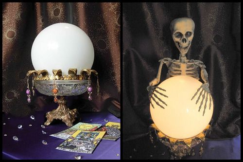 DIY Halloween Crystal Ball with a full tutorial du balai - menards halloween decorations