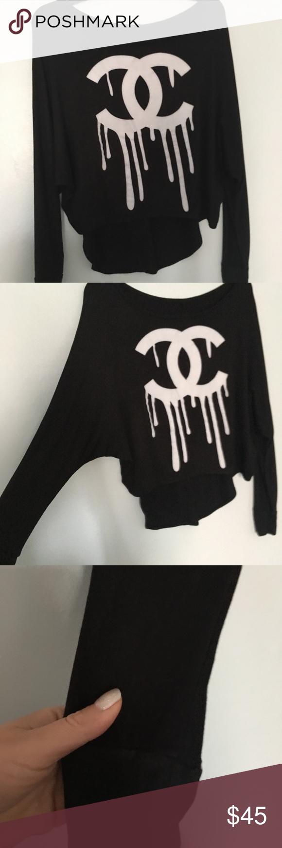 Chanel print logo long sleeve shirt Long sleeve shirts