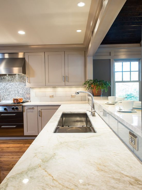 Quartzite Natural Stone Countertop In Beautiful Kitchen. Contact Granite  Dealers For Availability +1 800 848 1339