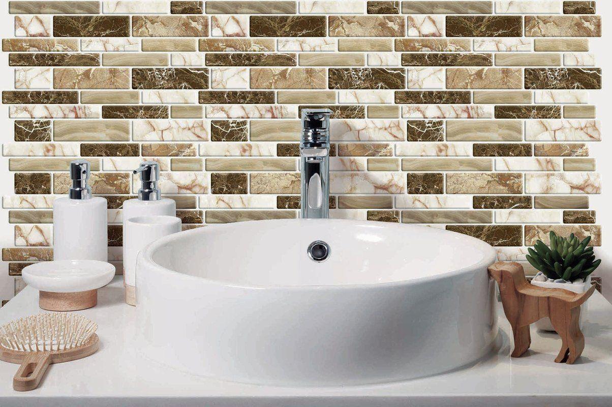 """12"""" x 12"""" PVC Peel & Stick Mosaic Tile Stick on tiles"""
