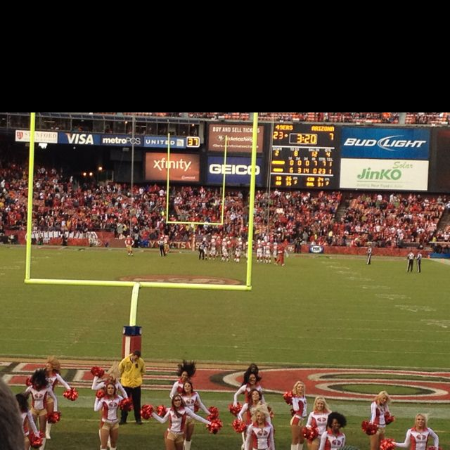 My first football game.