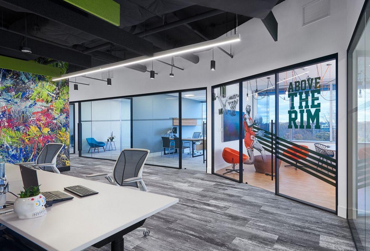 una vez Situación Las bacterias  NIKA Offices - Rockville - Office Snapshots | Beautiful office spaces,  Commercial office design, Modern office design