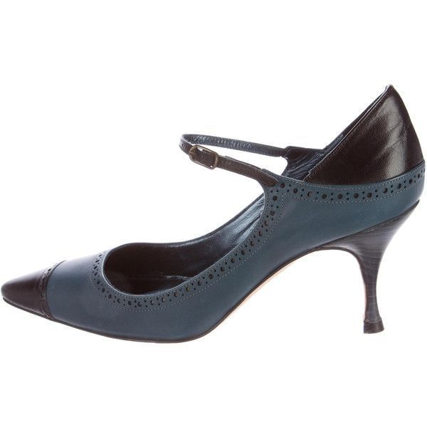 Manolo Blahnik Brogue Mary Jane Pumps low cost clearance 2015 9kh3Cc48