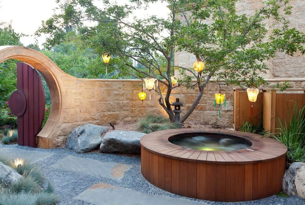 Great Copper Round Spa With Bench Seating And LED Lighting 84u201d Round X 37u201d Deep