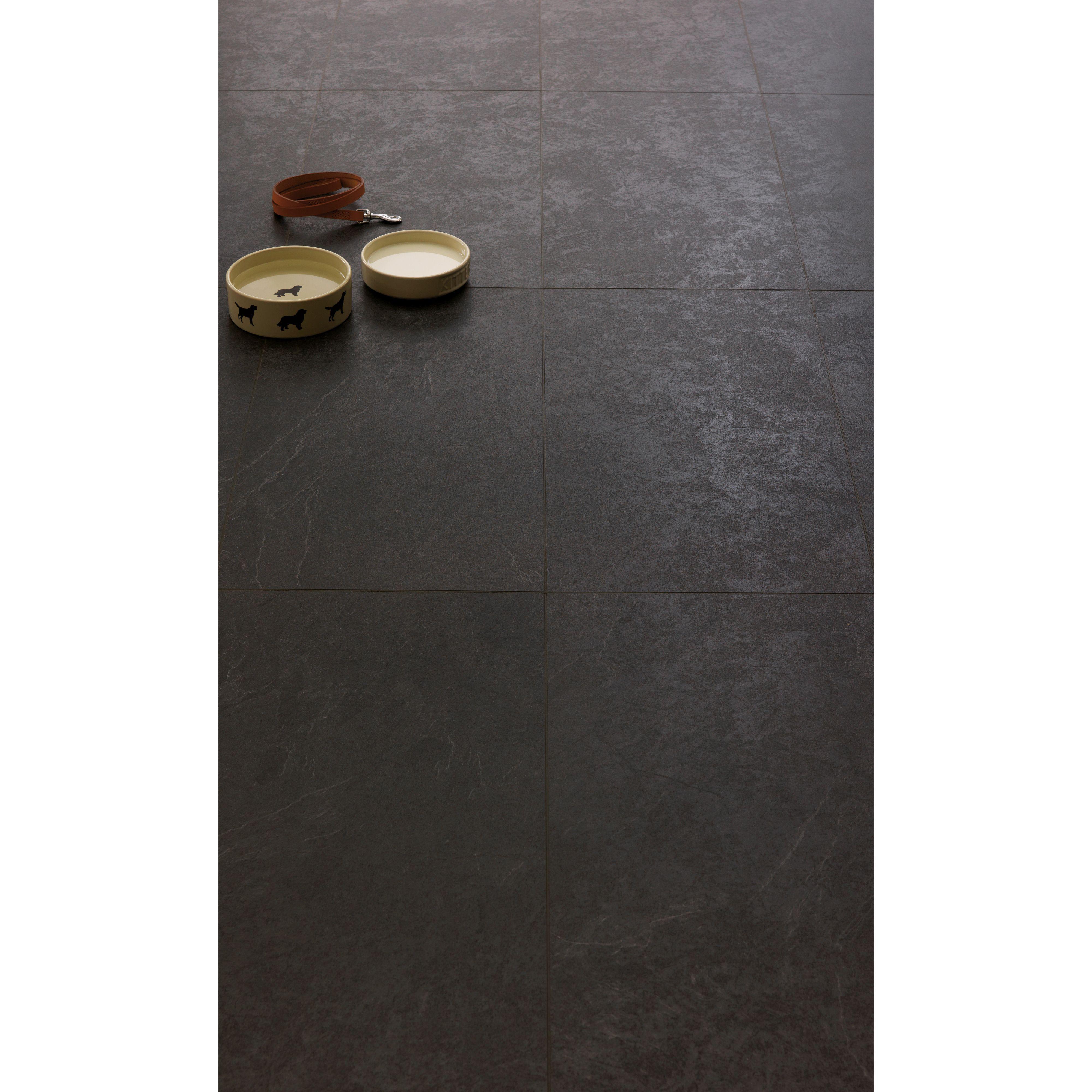 Tile Effect Laminate Flooring, Black Travertine Laminate Flooring