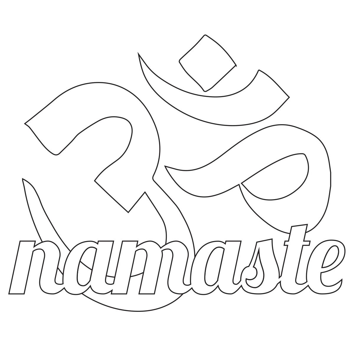 Free Namaste Om Yoga Coloring Page | Free adult coloring ...