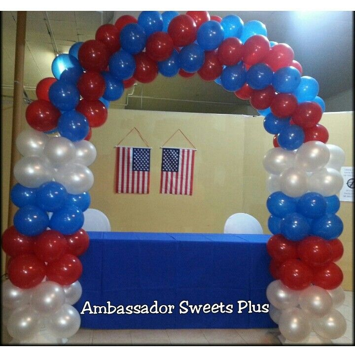 Red White And Blue Balloon Arch Special Events