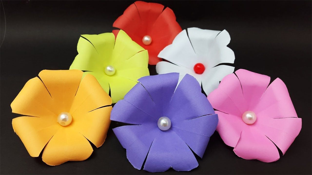 How To Make Paper Flowers Origami Flower Easy Diy Paper Craft