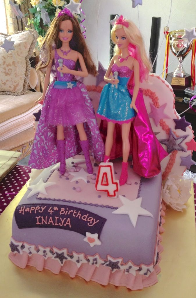 the princess \ popstar barbie themed birthday cake Dessert Table - best of coloring pages barbie rockstar