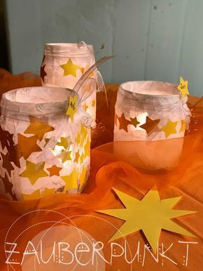 Sternenlaterne, DIY KINDER; Lichterglanz, Sterne, Kindergarten. Licht #laternebastelnkinder