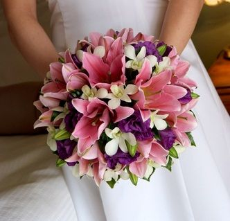 Lily Wedding Bouquet Bridal Bouquets For Weddings Flowers Pink Lilies 332x319
