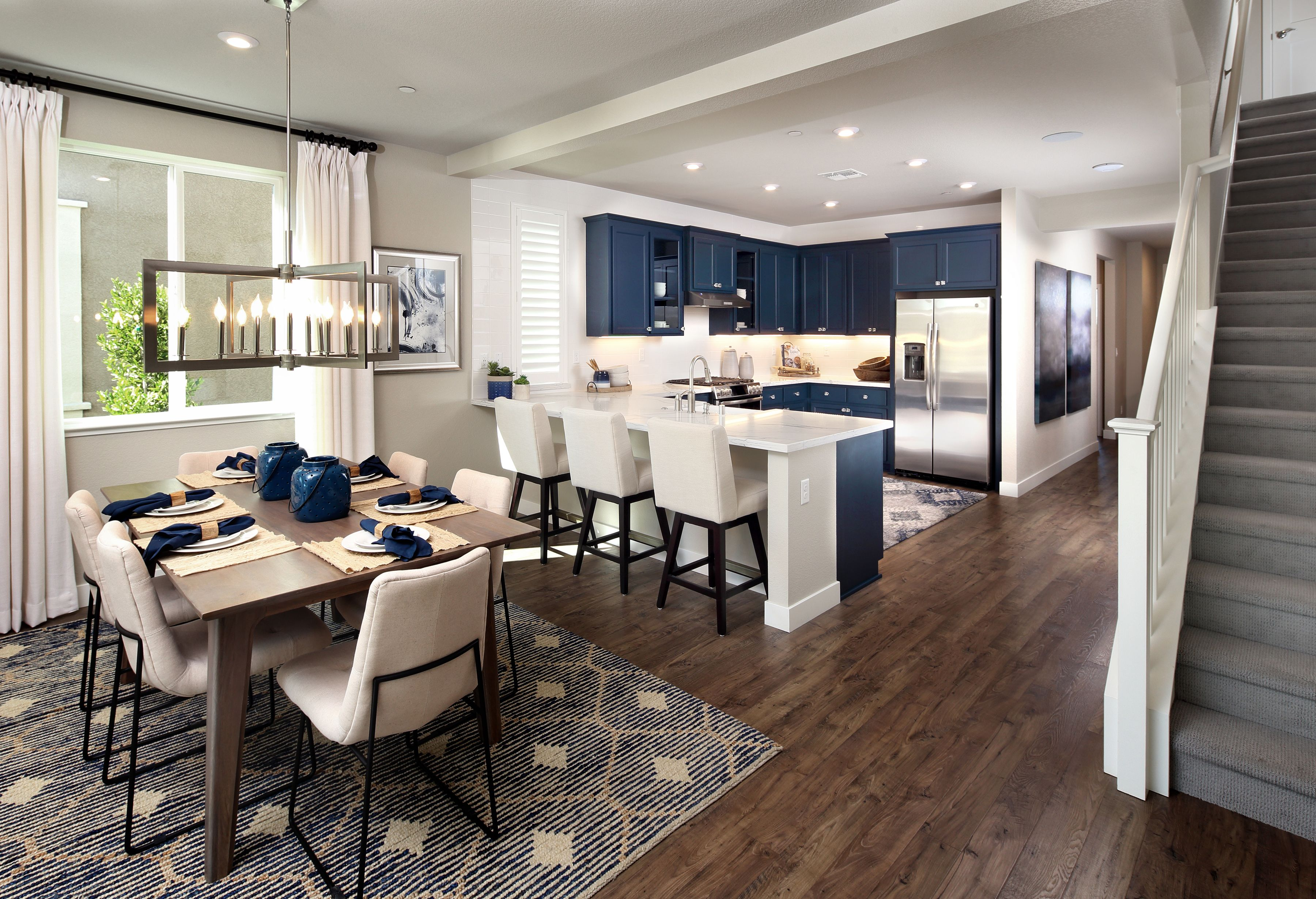 Carefully Crafted Just For You Kitchen Diningroom Staircase Blue Dreamhome Dreamkitchen Sacramentohomes Sacramento Home California Living New Homes