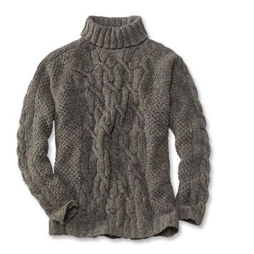 Irish Fisherman Sweaters for Men | donegal cable turtleneck ...