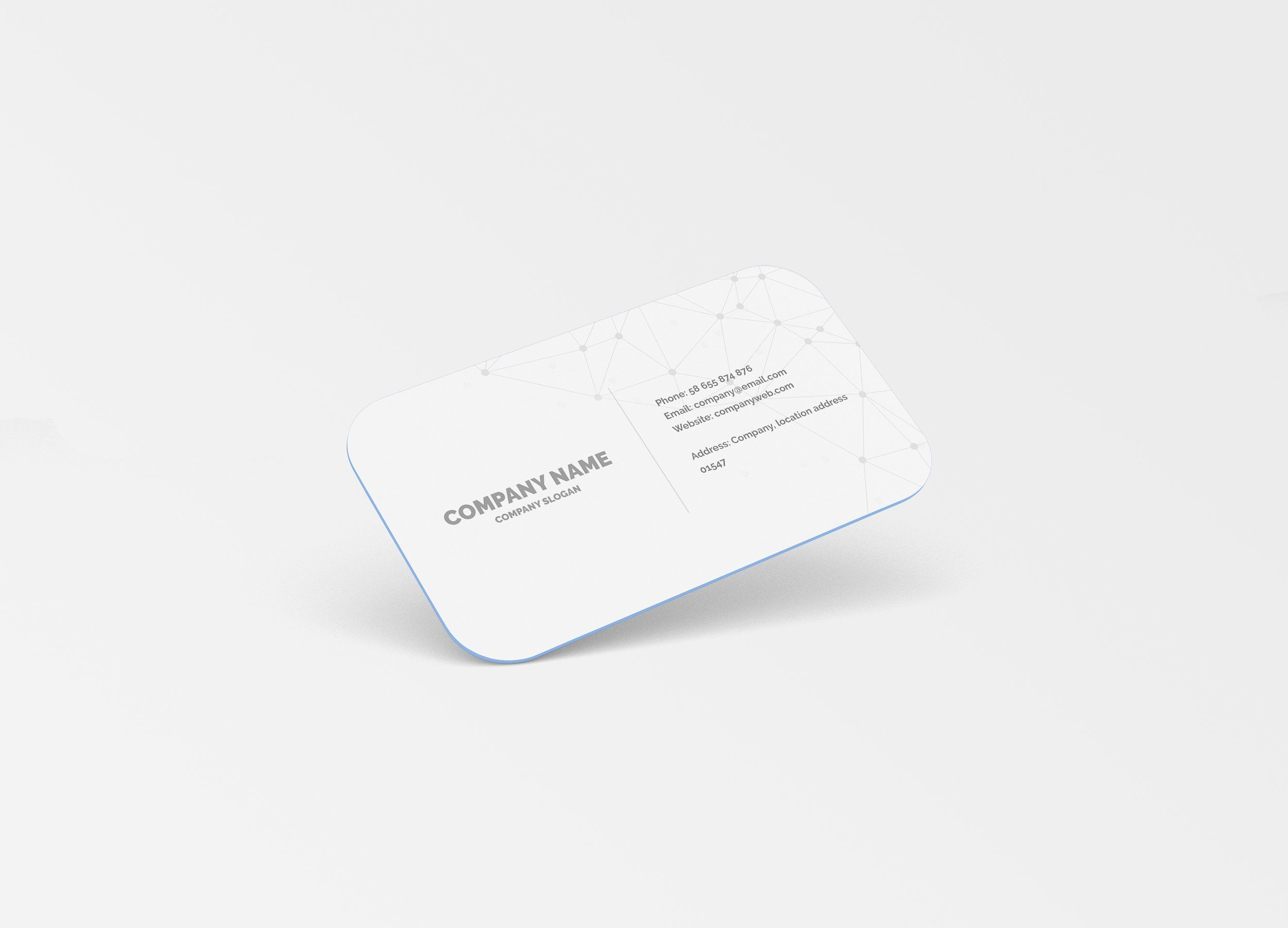 Rounded Corner Business Card Mockup Business Card Mock Up Free Business Card Mockup Round Business Cards